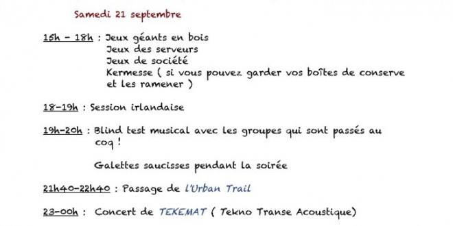 Animations septembre